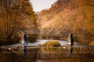 Saalebrücke bei Kahla im Herbstlicht, ein Produkt von Saaleland-Photography.de, Ihrem Fotografen in Kahla, Jena und Umgebung